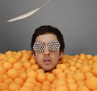 calvinharris in orange balls